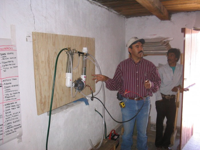 Demonstration of a water purifier